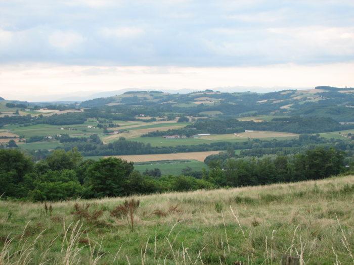 La Drôme des collines - vue de la ferme Robin