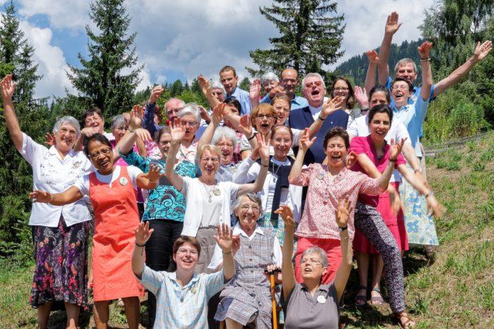 Membres du Foyer de Charité de La Flatière, en France