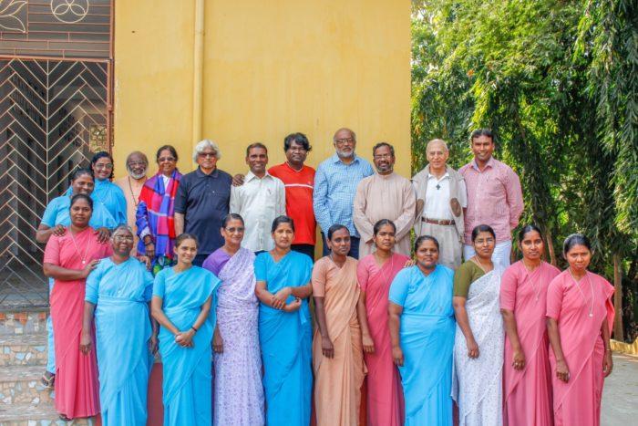 Membres d'un Foyer de Charité en Inde