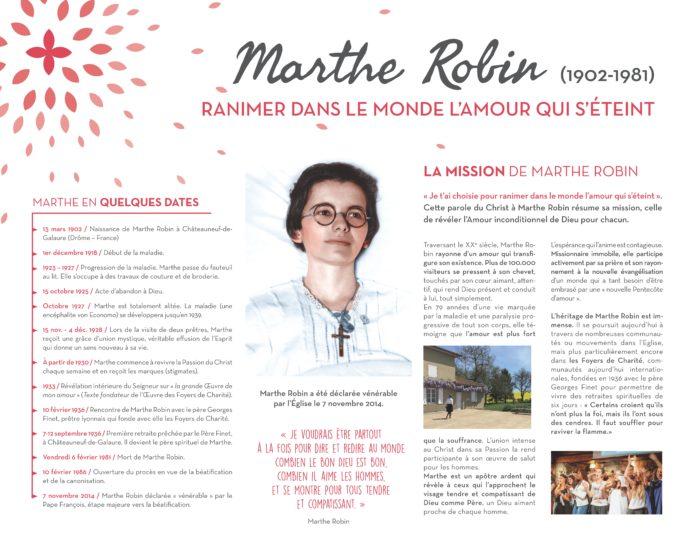 Marthe Robin : Ranimer dans le monde l'amour qui s'éteint (panneau exposition)