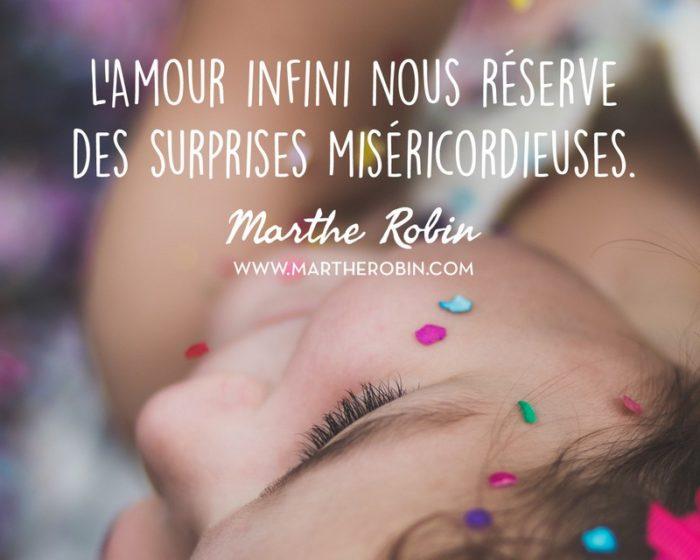 L'amour infini nous réserve des surprises miséricordieuses