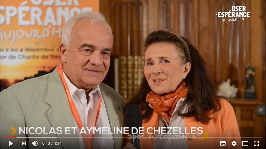 Rencontre de Nicolas et Aymeline de Chezelles avec Marthe Robin
