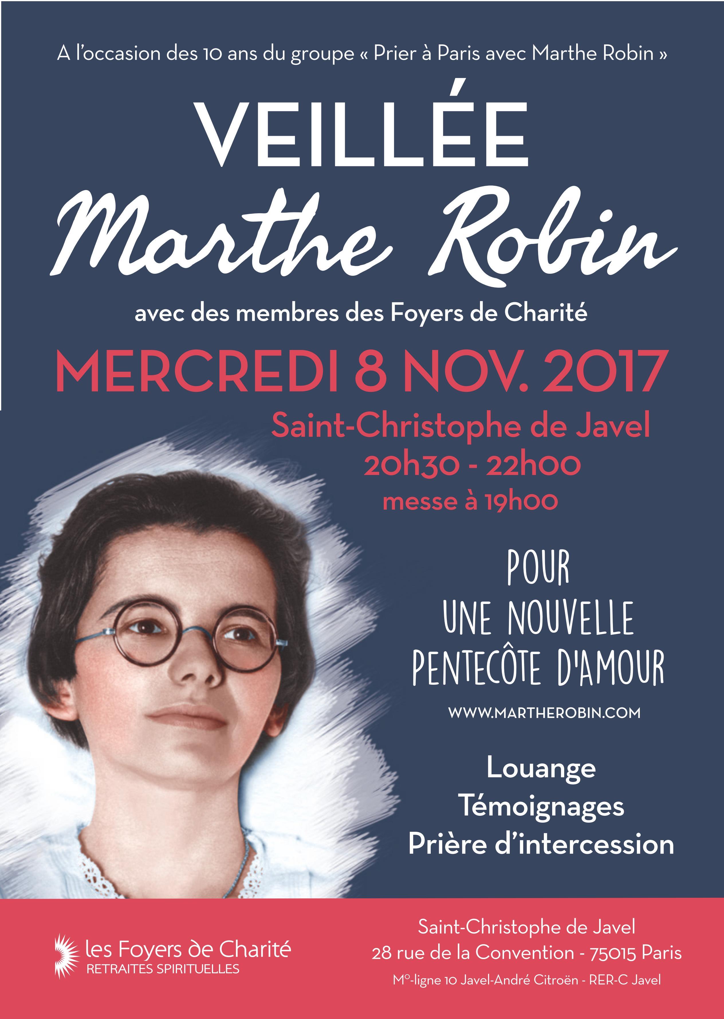 Veillée Marthe Robin à Paris :