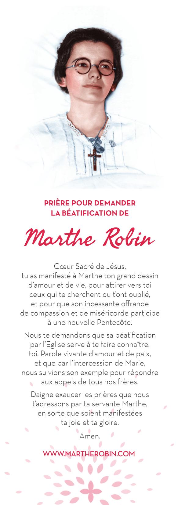 Prière béatification Marthe Robin
