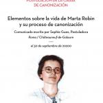 Elementos sobre la vida de Marta Robin y su proceso de canonización